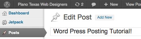 Word Press Tutorial