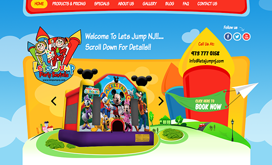bounce-house-website-slider