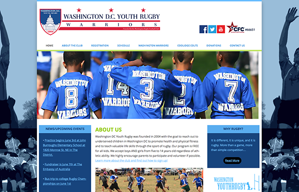 local seo - washington youth rugby