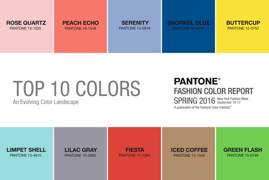 2508design, Pantone Colors 2016