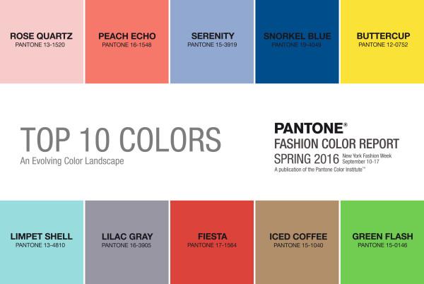 2508design, Pantone Colors 2016